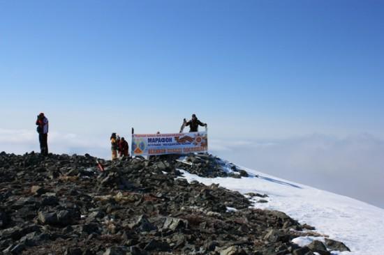 Банер на горе Комендант